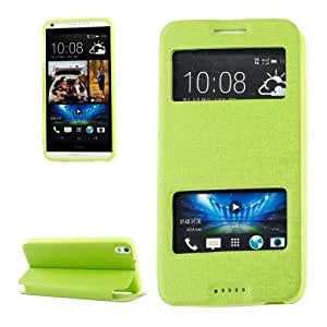 Texture Oracle Funda Horizontal piel con tapa con ventana Case Cover S View & Holder para HTC Desire 816/800 (Green)