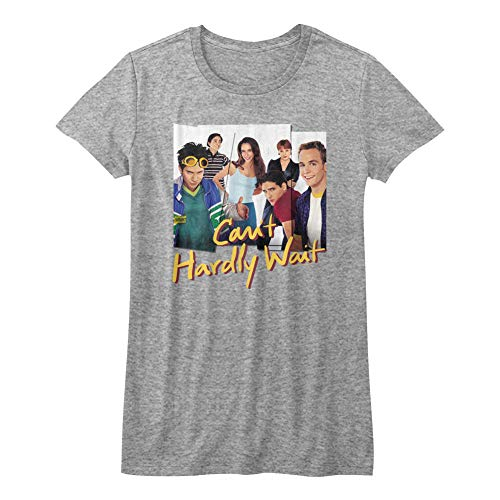 Cant Hardly Wait - Girls Group Photos T-Shirt, Size: Medium, Color: Gray Heather