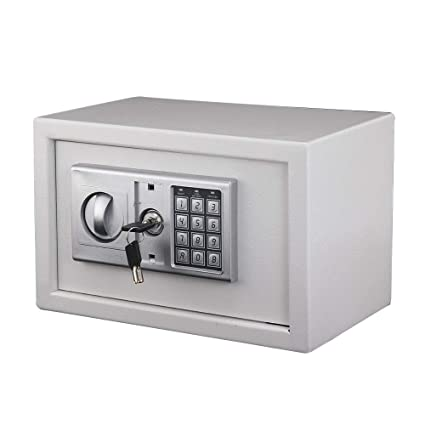KingSaid 8.5L Digital Steel Safety Box Electronic Security Home Office Money Cash Safety Box Money Handling Products