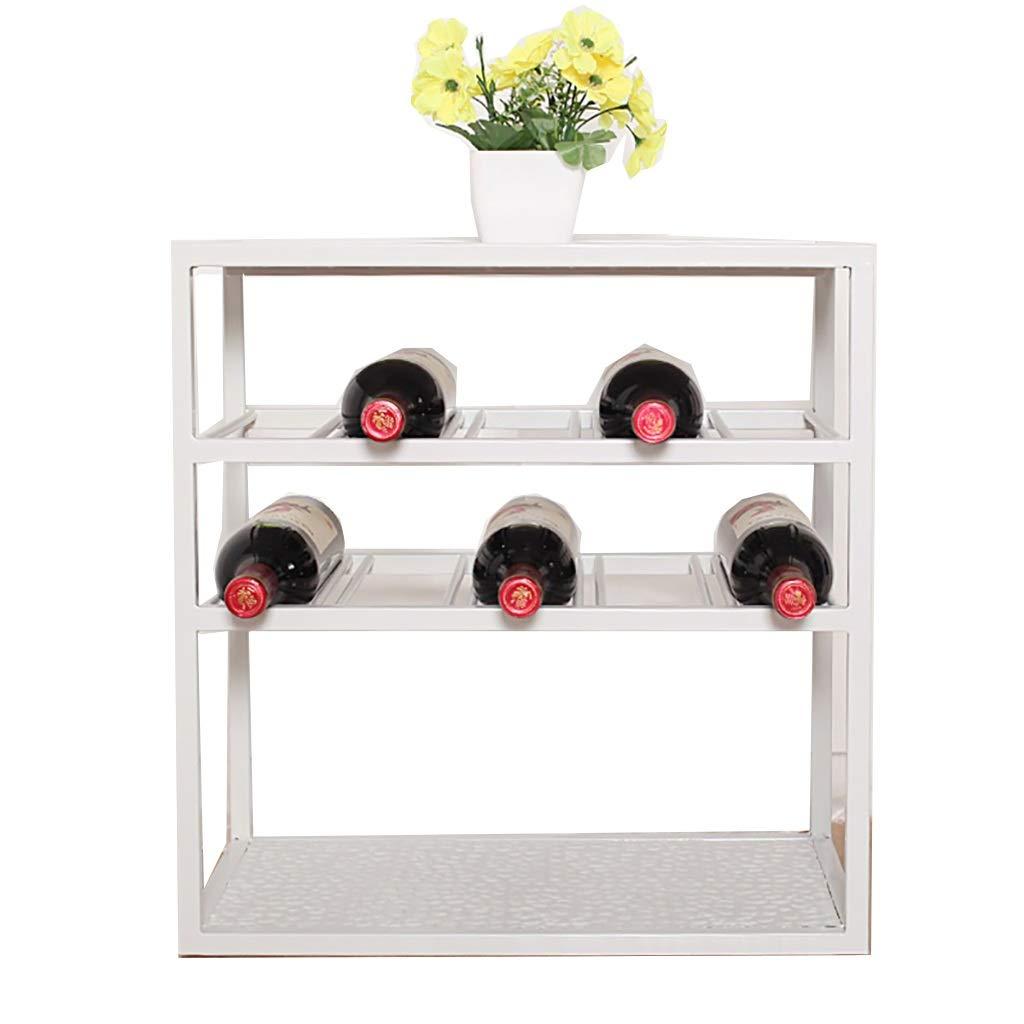 ワインラック棚小さなワインクーラー収納棚本棚アイアンアートランディングモダンシンプルバーカウンターレストランリビングルーム (色 : C) B07PCM9992 C