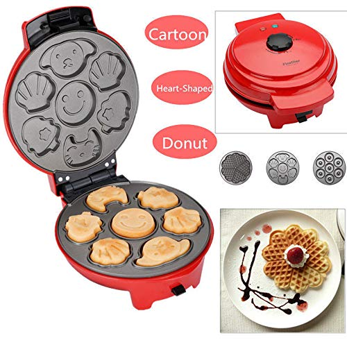 700W 3 in 1 Snack Iron with Detachable Non Stick Waffle Maker Doughnut Brownie Machine PlatiniumTech