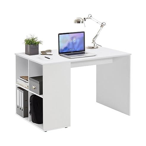 Schreibtisch holz weiß  FMD Möbel Gent Schreibtisch, Holz, weiß, 117 x 73 x 75 cm: Amazon ...