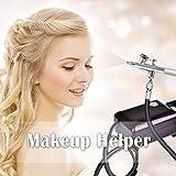 StarsTech Airbrush Makeup Machine Airbrush Compressor with 0.4mm Airbrush Spray Gun, Purple