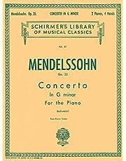 Concerto No. 1 in G Minor, Op. 25: Schirmer Library of Classics Volume 61 Piano Duet