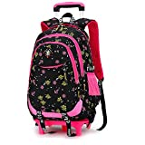 Best Rolling Backpacks For Girls - GudeHome Girls Schoolbags with 2 Wheeled Trolley H Review