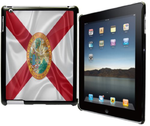 Rikki Knight? Florida State Flag Design Black Snap on Protective Case for Apple iPad? 2 - The New iPad (3rd Generation) - iPad - U Tallahassee Fit