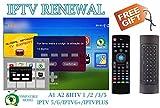 All Box Will Work HTV 1 2 3 5 A1 A2 IPTVKINGS BRAZIBOX Tiger Box/Super Brazil IPTV Brazil Subscription 16-Digit Renew Code Magic Keys Free 1 Extra Month Free Remote