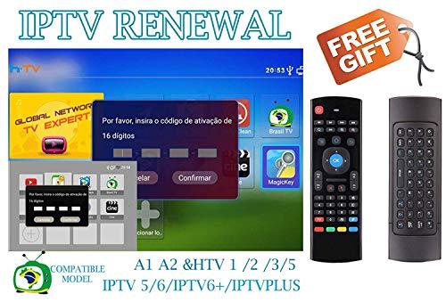 All Box Will Work HTV 1 2 3 5 A1 A2 IPTVKINGS BRAZIBOX Tiger Box/Super  Brazil IPTV Brazil Subscription 16-Digit Renew Code Magic Keys Free 1 Extra