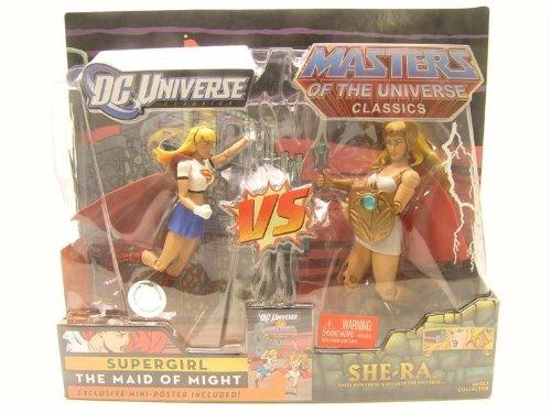 DC Universe Masters of the Universe Classics Action Figure 2Pack Supergirl Vs SheRa Mattel MTT0834BB