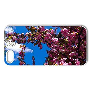 Pretty & Pink! - Case Cover for iPhone 5 and 5S (Flowers Series, Watercolor style, White)