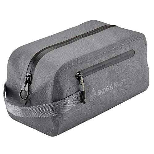 - DoppSåk Waterproof & Leak-proof Travel Toiletry Bag (Small, Charcoal Grey)