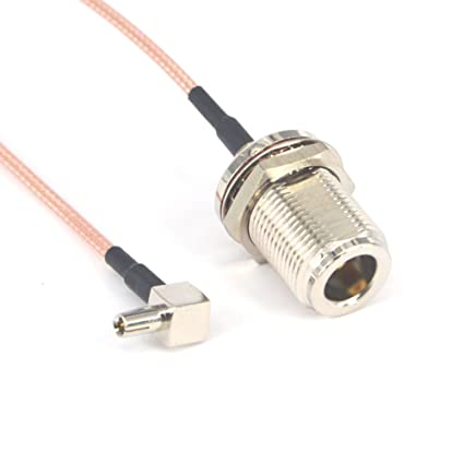RF Coaxial N Female Bulkhead to TS9 Male Right Angle Connector USB Modem Adapter Extension Cable