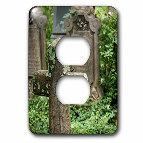 3dRose Danita Delimont - Charleston - Gravestones at an old church graveyard. Charleston, South Carolina - Light Switch Covers - 2 plug outlet cover - Outlets Charleston