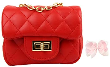 8adbe5824560 Image Unavailable. Image not available for. Color  WODISON Trendy Kids  Toddler Crossbody Quilted Purse Shoulder Bag Metal Chain for Girls ...