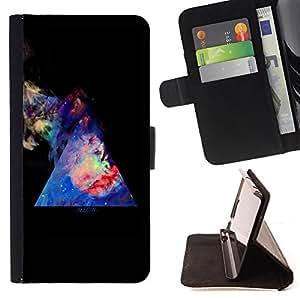 King Case - FOR Samsung ALPHA G850 - in the night sky - Prima caja de la PU billetera de cuero con ranuras para tarjetas, efectivo Compartimiento desmontable y correa para la mu?eca