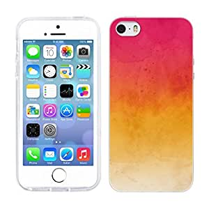 Head Case Designs Pink and Yellow Watercoloured Ombre Soft Gel Back Case Cover for Apple iPhone 5 5s