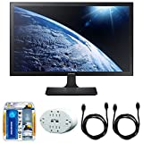 Samsung SE310 Series 27'' Screen LED-Lit Monitor (S27E310H) with 2x General Brand HDMI to HDMI Cable 6', Xtreme 6 Outlet Wall Tap w/2 USB Ports White & Xtreme Performance TV/LCD Screen Cleaning Kit