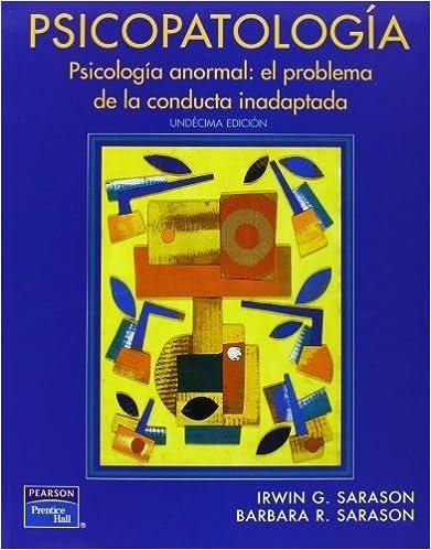 Book Psicopatología (Spanish Edition) by Sarason, Irwin G. (2011)