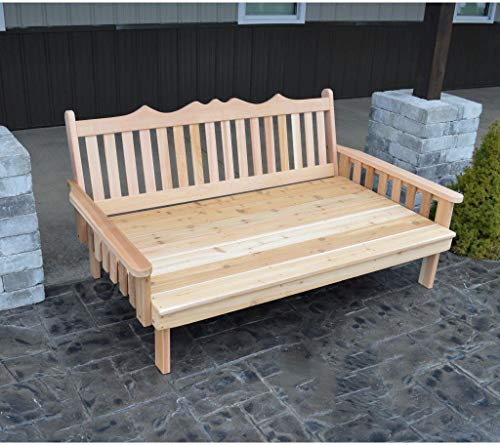 A & L Furniture Co. Western Red Cedar 4' Royal English Garden Daybed - Ships Free in 5-7 Business Days