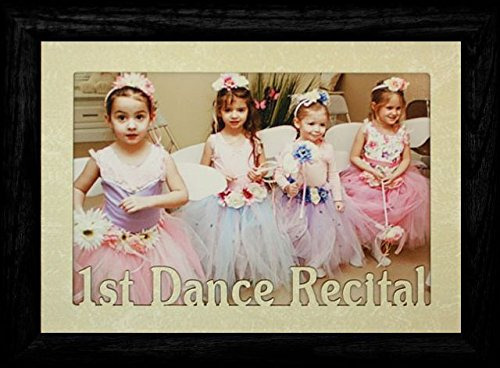 5x7 JUMBO ~ 1st DANCE RECITAL Landscape BLACK Picture Frame ~ Laser Cream Marble Mat by PersonalizedbyJoyceBoyce.com