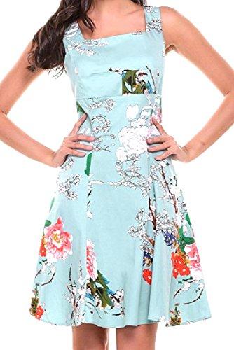 Sleeveless Dress s Casual Short Women Vintage Green Comfort Coolred Soft wZxXgPqxT