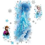 RoomMates RMK2739GM Frozen Ice Palace with Else and Anna Peel and Stick Giant Wall Decals