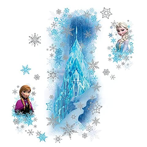 RoomMates RMK2739GM Frozen Ice Palace with Else and Anna Peel and Stick Giant Wall Decals (Olaf Wall Mural)