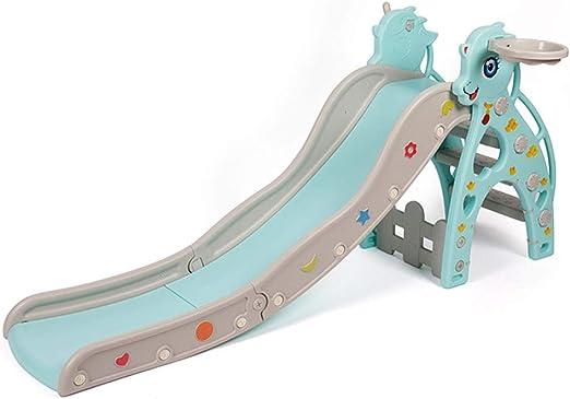 Tobogán para Niños Parque Infantil Juguete Columpio Bebé Niño Escalera De Plástico Plegable para El Hogar Regalos para Familia Y Niños. (Color : Blue, Size : 190 * 83cm): Amazon.es: Hogar