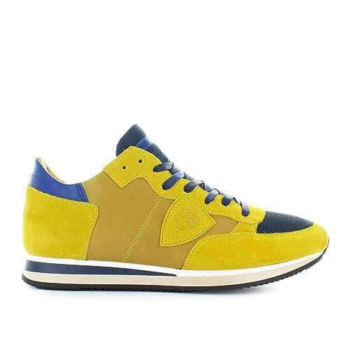 e3e3f5cdbf Philippe Model Scarpe da Uomo Sneaker Tropez Mondial Giallo Blu ...