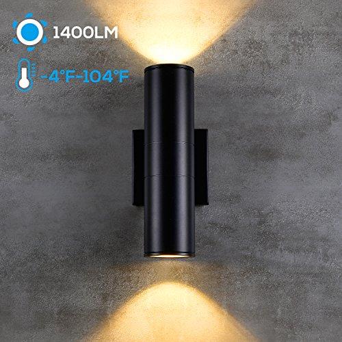 Stop Light For Garage Wall: LEONLITE LED Cylinder UP Down Light, 20W (120W Equivalent