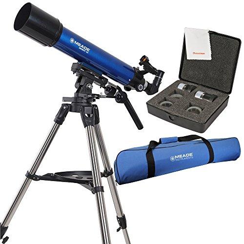 Meade Infinity 90mm Altazimuth Refractor Telescope w/ Bag & Eyepiece Bundle
