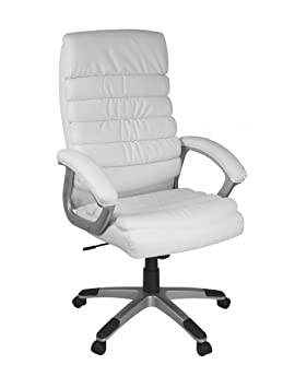 housse chaise de bureau blanche