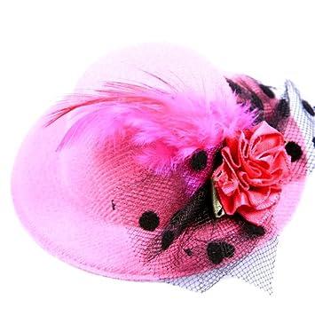d2ccba5aa Anleolife Kids Hats Fascinators/Baby Mini Top Hat Hair Clip/Girls Hair  Accessories Fascinator Party...