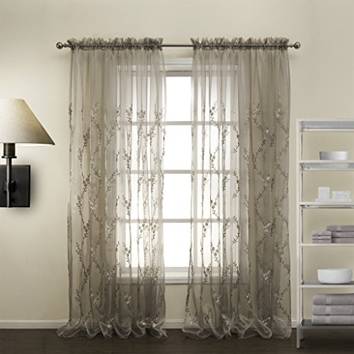 IYUEGO Country Love Branches Sheer Curtains Rod Pocket Top With Custom Multi Size 84 W X L One Panel