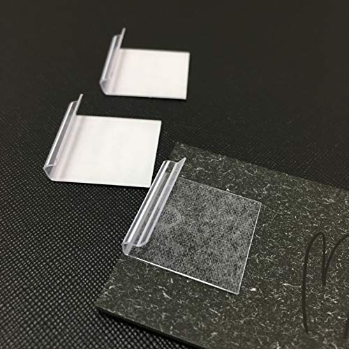 Adhesive Lip Adapter or Hanger for Earring Card Display (Pack of 60) (1'' x 1'') ()