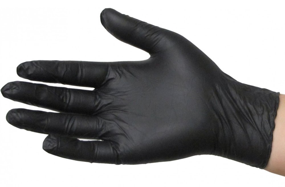 SKINTX BLK50015-L-CS Nitrile Medical Grade Examination Gloves, 5 mil - 5.5 mil, Powder-Free, Textured, Chemotherapy Tested, Latex-Free, Non Sterile, Large, Black (Pack of 1000)