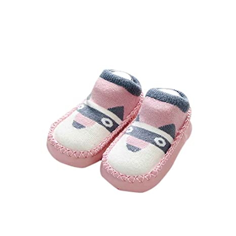 Minzhi Calcetines antideslizantes para bebés con suela blanda Calcetines calcetines para niños recién nacidos para caminar