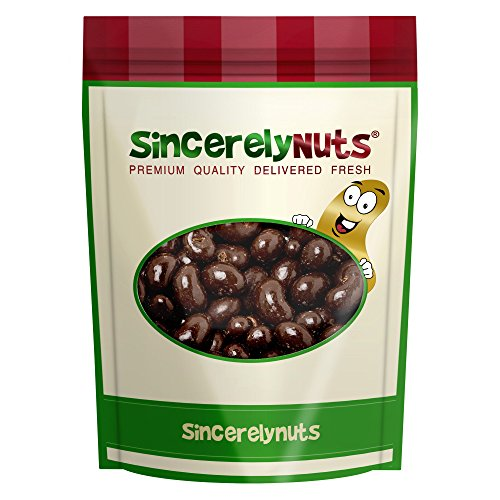 Sincerely Nuts Dark Chocolate Cashews- Three Lb. Bag- Insanely Delicious- Sealed For Total Freshness- Wholesome Minerals and Vitamins- 100% Kosher (Dark Chocolate Cashew)