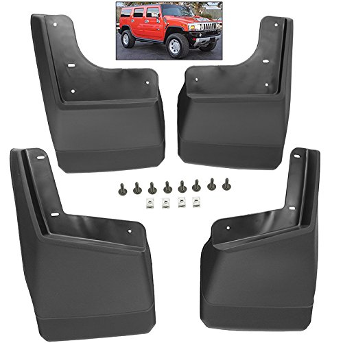 Splash Guards Full Set Front Rear 2003-2010 Hummer H2 H2 SUT Mud Flaps