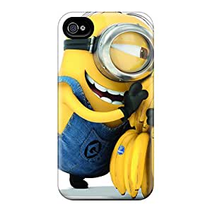 LauraAdamicska Apple Iphone 4/4s Scratch Resistant Hard Phone Cover Provide Private Custom High Resolution Minion Pattern [RWI4205IyCW]