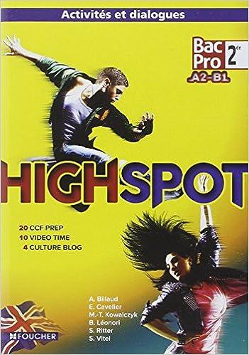 En ligne High Spot 2de BAC PRO CD audio pdf, epub