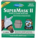 Farnam SuperMask II Classic Horse Fly Mask with Ears, X-Lrg., Assorted
