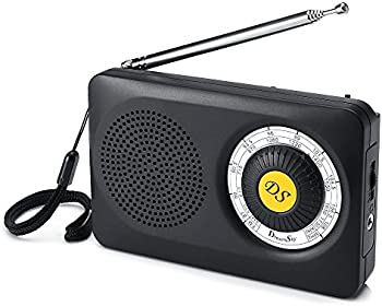 DreamSky AM FM Portable Radio with Loudspeaker & Headphone Jack