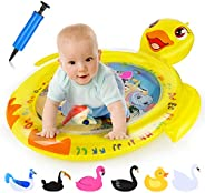 EKOOS Tummy Time Baby Water Mat Infant Toy Inflatable Play Mat for 3 6 9 Months Newborn Boy Girl, Water Play M