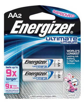 Energizer® Ultimate® e2® 1.5 Volt AA Cylindrical Lithium Battery