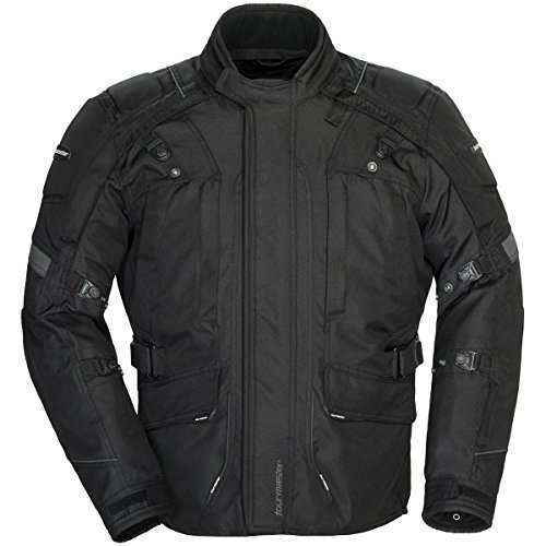 Adventure Textile Jacket (Tourmaster Transition Series 4 Men's Textile Motorcycle Touring Jacket (Black,)
