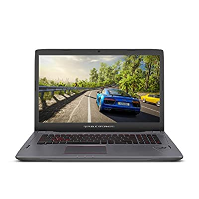 "ASUS ROG Strix GL702VS 17.3"" Full HD Ultra Thin and Light Gaming Laptop,75HZ G-SYNC Display, GeForce GTX 1070 8GB, Intel i7-7700HQ 2.8 GHz, 12GB DDR4 RAM, 128GB SSD + 1TB 7200 rpm HDD from Asus Computers"