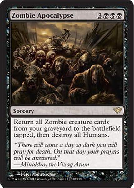 Amazon Com Magic The Gathering Zombie Apocalypse 80 Dark Ascension Toys Games