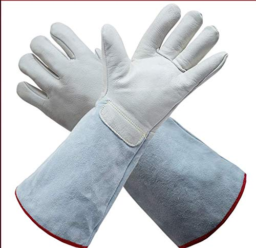 replace, Stove, Oven, Grill, Welding, Grill, Mig, Pan, Animal Treatment, Extremely Heat-Resistant Fire Gloves, Long, Thick,Long26cm ()