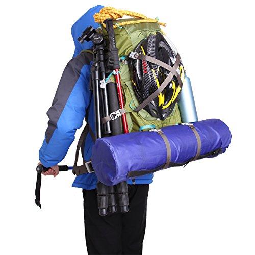 Eshow 40L Mochilas de Senderismo al Aire Libre de Nailon Impermeable Mochilas Montaña Mochila de Viaje Para Hombre y Mujer Color Verde Armado Verde